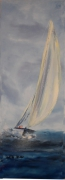 tableau marine mer voilier regate vent : Appel du large