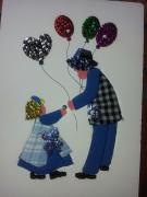 tableau personnages tableau mousse enfant ballons : Les ballons