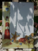 ceramique verre paysages cadre photo phare mer : Cadre phare