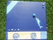 tableau marine mer dauphin bleu : La mer
