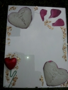 ceramique verre autres cadre amoureux coeur petales : Amoureux 1