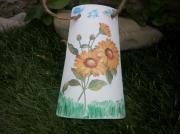 ceramique verre fleurs tuile tournesol jaune : Tournesol