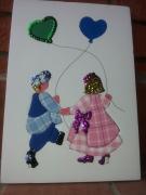tableau personnages cadre mousse enfants ballons : Les enfants