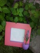 bois marqueterie autres cadres rose parme lavande : Cadre rose