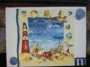 tableau marine tableau mer bleu : Le phare