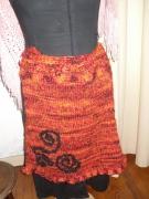 art textile mode : jupe très chaude