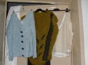 art textile mode : pull en viscose bleu