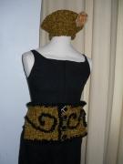 art textile mode : ensemble béret et ceinture