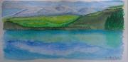 tableau paysages lac montagne auvergne chambon : Lac de Chambon
