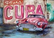 dessin paysages cuba aquarelle : Viva Cuba