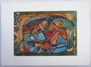 tableau autres acrylique bois papier ,a poncer : Les passagers de l'arche