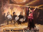tableau personnages danse oriental cabaret musique : Cabaret oriental
