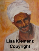 tableau personnages egypte portrait bedouin desert : Bédouin d'Égypte