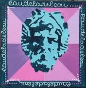 tableau abstrait psychedelic : eaudeladeleau