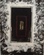 tableau abstrait noir blanc abstrait : lumiere