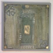 tableau abstrait jardin abstrait : jardin secret