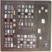 tableau abstrait noir gris : des espoir s
