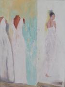 tableau personnages femme mannequins blanc acrylique : Simple Présence