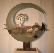 sculpture abstrait lune personnages arbre cheminement : L'Autre Ailleurs