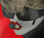 tableau personnages portrait femme urbanisme lunettes : Femme urbaine