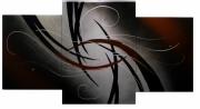 tableau abstrait abstraction peinture abstrait acrylique : 282 - Abstraction triptyque
