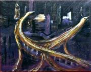 tableau villes peur sur la ville peinture automobiles : 314 - Peur sur la ville