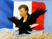 tableau personnages personnage peinture acrylique toile : 275 - L'adieu hommage