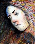 tableau autres peinture acrylique toile visage : 278 - Emergence