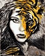 tableau animaux femme tigre transformation : 279 - La femme ou la tigresse