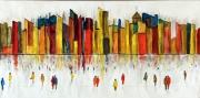 tableau architecture ville vue d artiste peinture : 280 - La ville