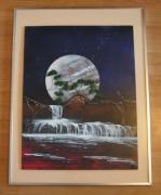 tableau paysages tableau decoration spray art peinture : Cascade de Venez