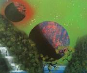 tableau paysages tableau peinture decoration toile : Cascade sur Venus