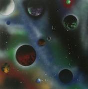 tableau autres espace space painting futuriste decoration : Délirium spatial