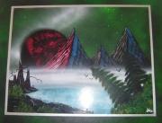 tableau paysages tableau toile support bois decoration : Pays des Morzac