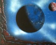 tableau autres espace space painting decoration tableau : Eclipse de Vega