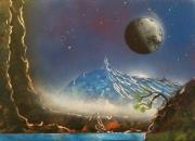 tableau paysages tableau toile peinture decoration : Mont Bloognaa
