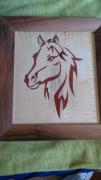 bois marqueterie animaux alsace strasbourg cheval pursang : equidé