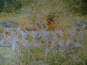 tableau autres printemps table citron jaune : Nos 87 le pique nique