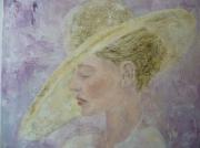 tableau personnages femme chapeau defile costume : Nos60 la préparation au défilé