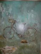 tableau autres velo chapeau panier courses : Nos 23la bicyclette
