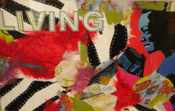 TABLEAU PEINTURE color chant Scène de genre Collage  - LIVING COLOR