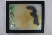 ceramique verre paysages maree sable algues bord de mer : Marée basse