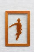 ceramique verre personnages danseur enfant marron ambre : Jeune danseur