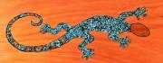 tableau animaux salamandre acrylique animal peinture : salamandre, oeuvre unique