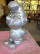 sculpture personnages lutin argent moule : lutin argent metalic ou or, dispo