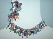 bijoux collier bracelet multicolor perles : Parure d'été