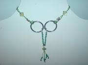 bijoux collier argent jade pierre : Collier argent/jade