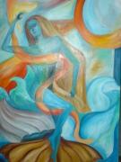 tableau nus venus femme nu mer : Naissance de Vénus