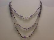 bijoux collier amethyste argent pierre : Collier amethyste/argent
