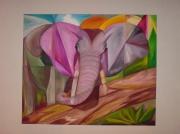 tableau : Elephant rose